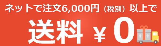 ネットで注文6,000円以上で送料無料